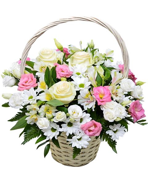Leepesx Cestino di Fiori Bianchi in Raso da Sposa con Decorazioni Floreali per Matrimoni